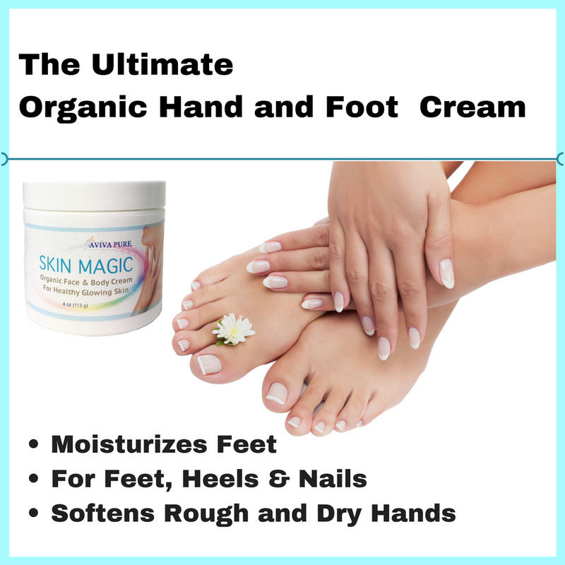 organic cream for hands and feet, softens rough skin, best moisturizer