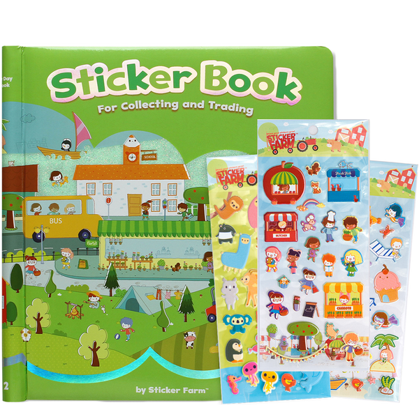 Happy Day Sticker Book Kit - Seedling Green