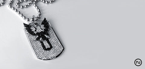 FU DIAMOND AND WHITE GOLD CHAIN UNISEX