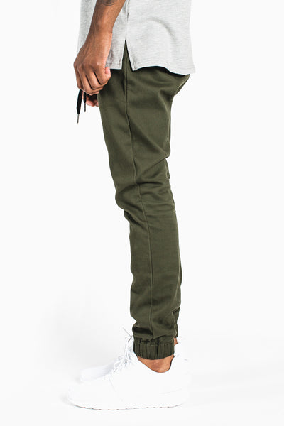 002 Joggers __ Olive