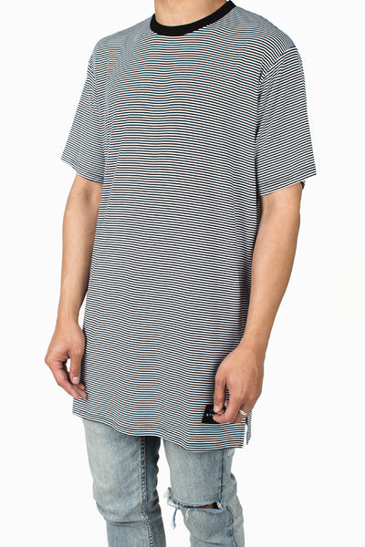 Long Fit Tee :: Stripe