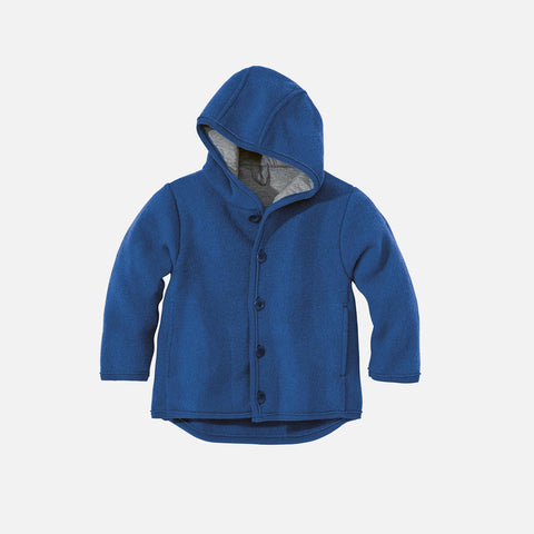 Organic Boiled Merino Jacket - New Navy - 6m-5y