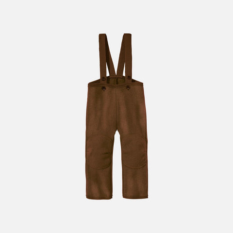 Boiled Wool New Style Dungarees - Hazelnut - 6m-6y