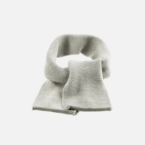 Organic Merino Scarf - Grey, Hazelnut, Curry & Anthracite