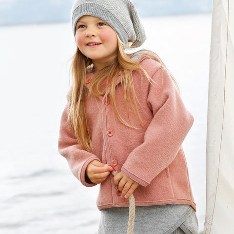 Organic Boiled Merino Jacket - Rose - 6m-5y