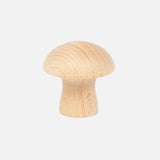 6 Wooden Mushrooms - Natural