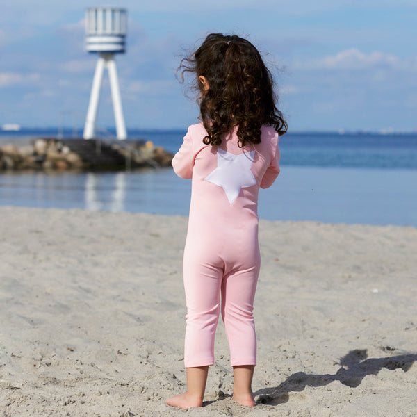 Lou Star UV Swim Bodysuit - Rose - 0-3y