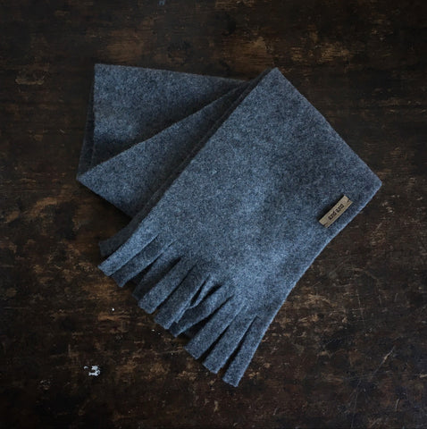 Merino Fleece Scarf - Slate - Big Kids