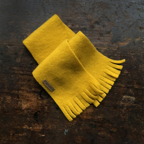 Organic Merino Fleece Baby Scarf - Lemon Curry - One Size