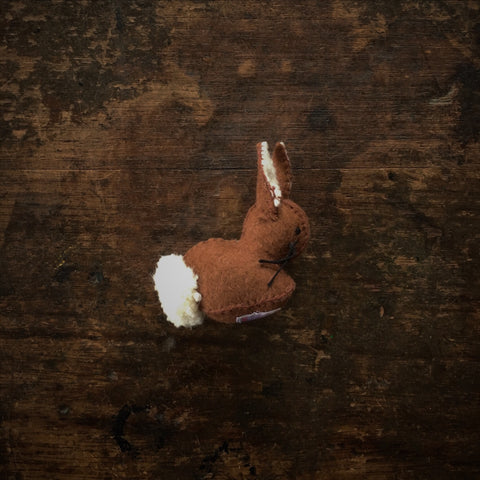 Handmade Wool Felt Rabbit - Light Brown