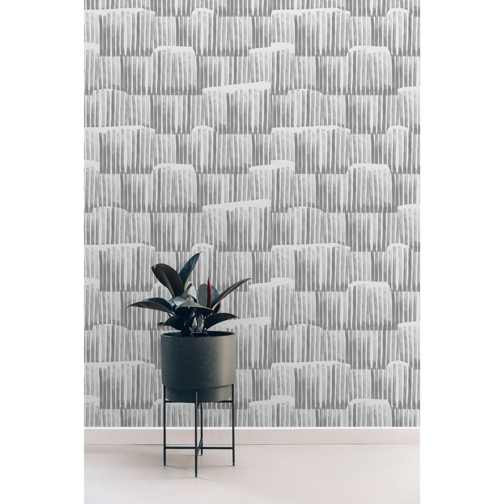 Shelf Wallpaper. Silver