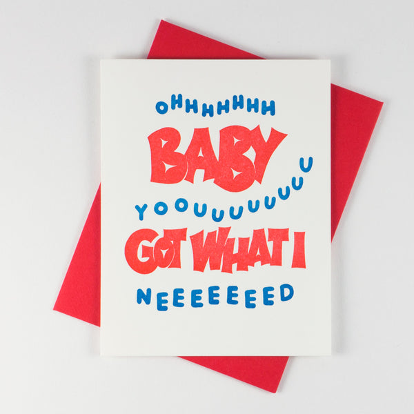 Lyric Series - Oh Baby Youuuu Card