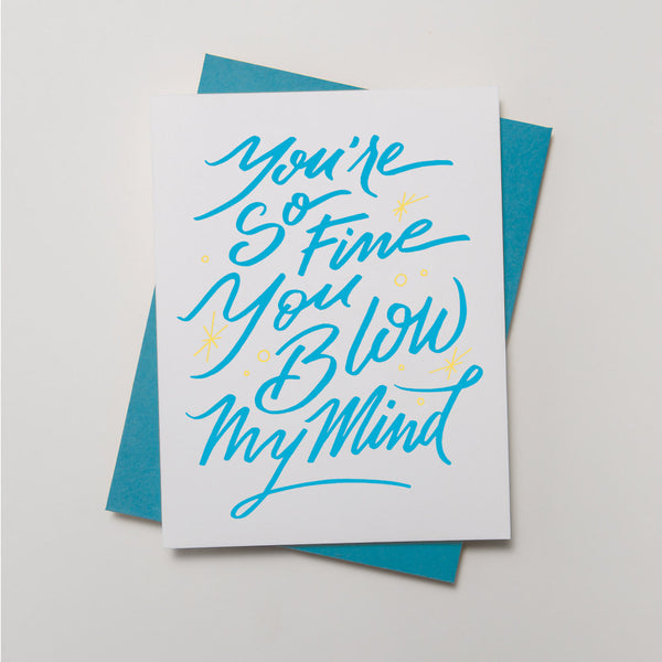 Lyric Series - You're So Fine Card