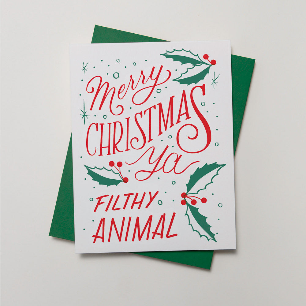 Holiday - Filthy Animal Card