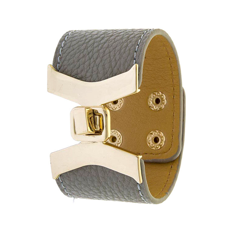 Stylish Leather Bracelet - Jewelry Buzz Box  - 2