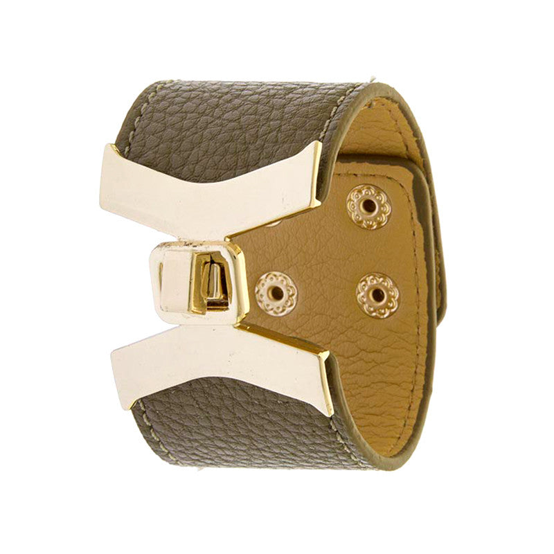 Stylish Leather Bracelet - Jewelry Buzz Box  - 1