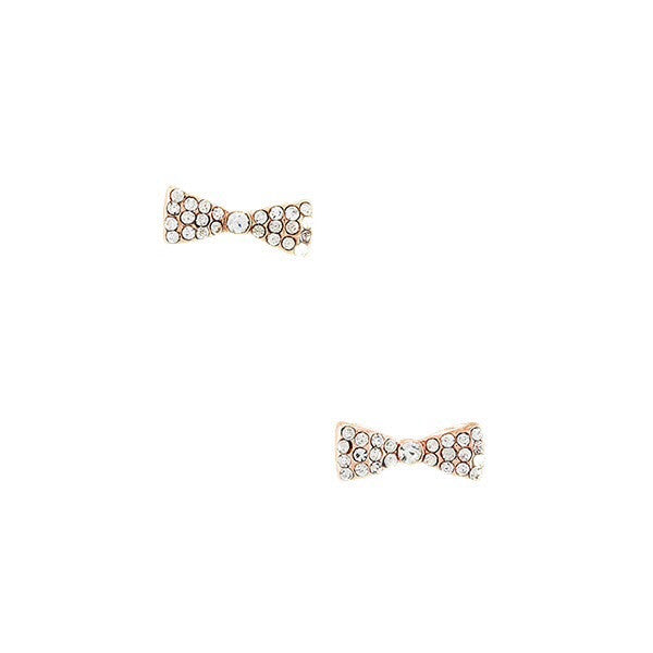 Crystal Ribbon Earrings - Jewelry Buzz Box  - 1
