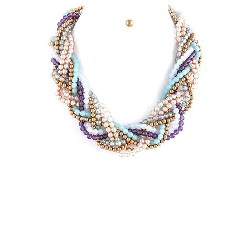 Beautiful Braid Necklace Set - Jewelry Buzz Box  - 1