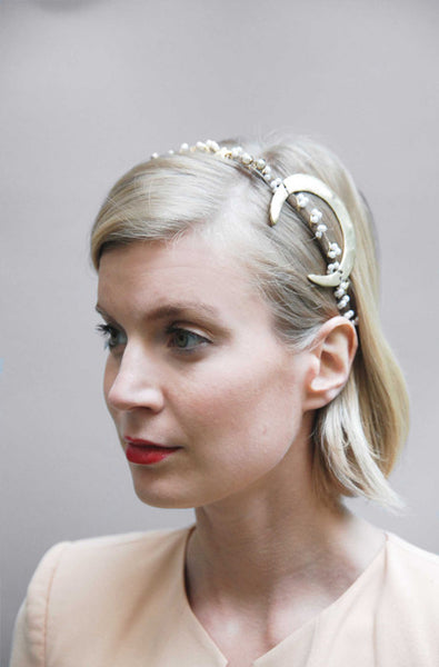 Crescent Moon Bridal Headband
