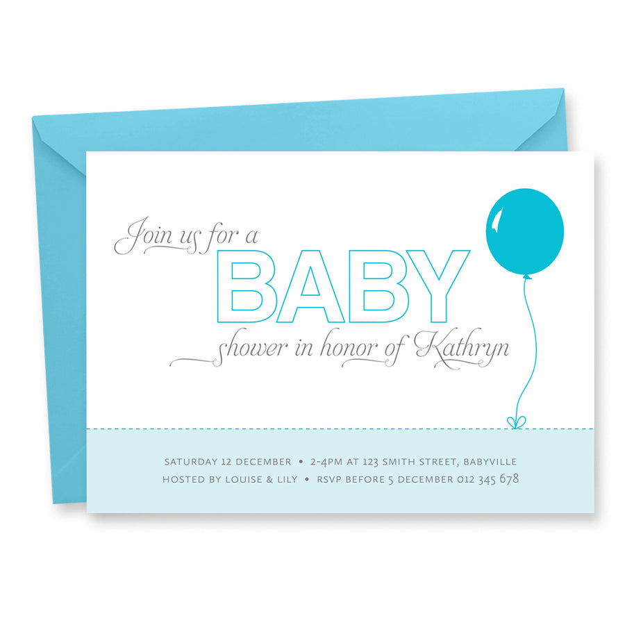 Baby Shower Invitation: Balloon
