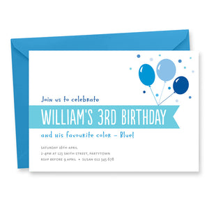 Birthday Invitation: Color Theme