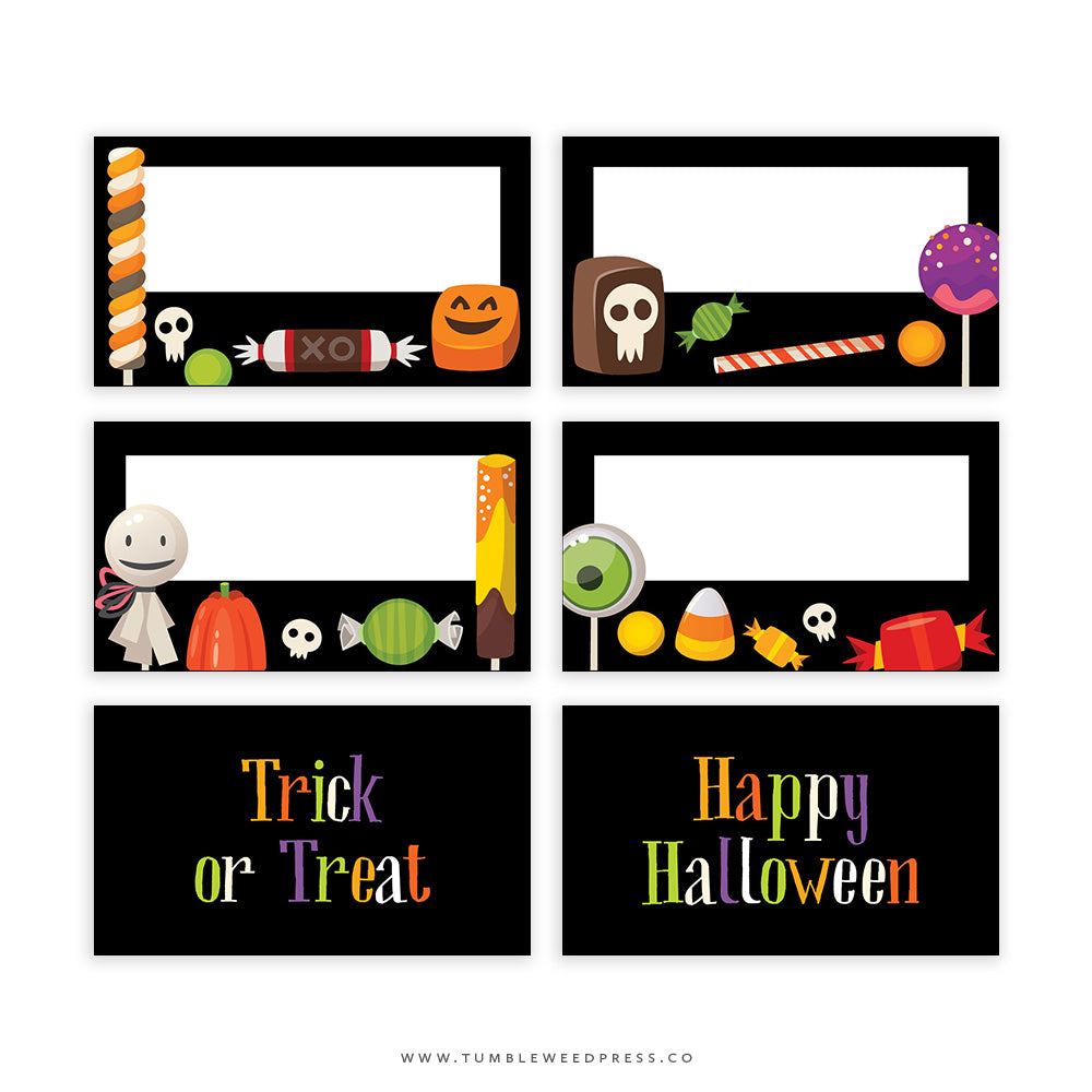 Halloween Treat Bag Toppers