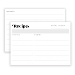 Recipe Cards: Harlow