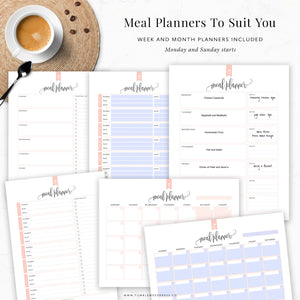 Meal Planning Binder Kit: Taylor