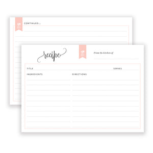Recipe Cards: Taylor