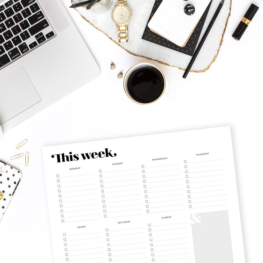 This Week Planner: Harlow