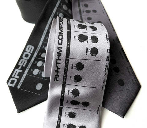 909 Drum Sequencer Necktie, Detroit DR-909 Tie