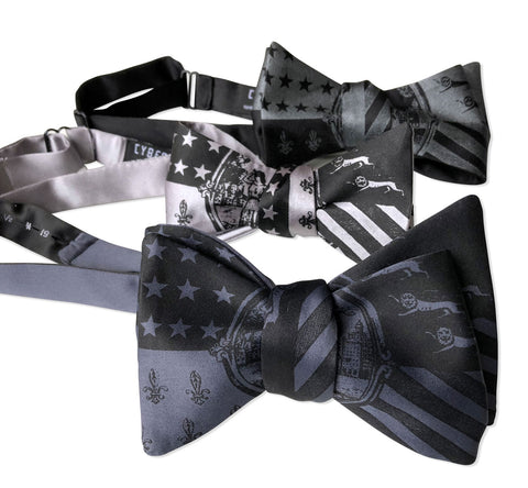 Detroit City Flag Bow Tie, 1940s Historic Flag Print