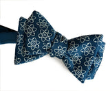 Atom Print Bow Tie, french blue. Cyberoptix