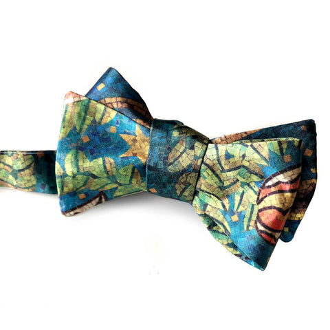 Fisher Building Mosaic Print Bow Tie
