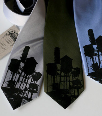 Water Towers Necktie