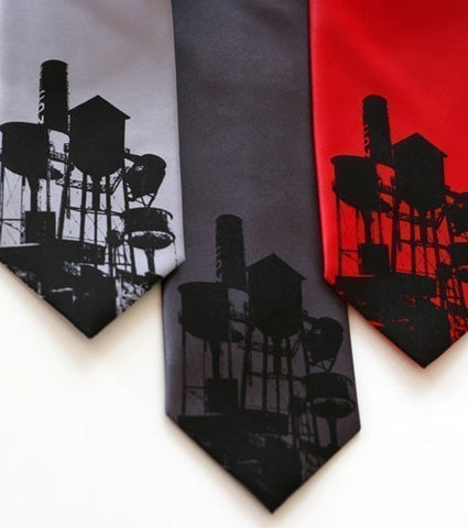 Water Towers Silk Necktie
