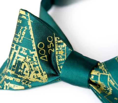 Detroit Map Bow Tie, Historic Eastern Market