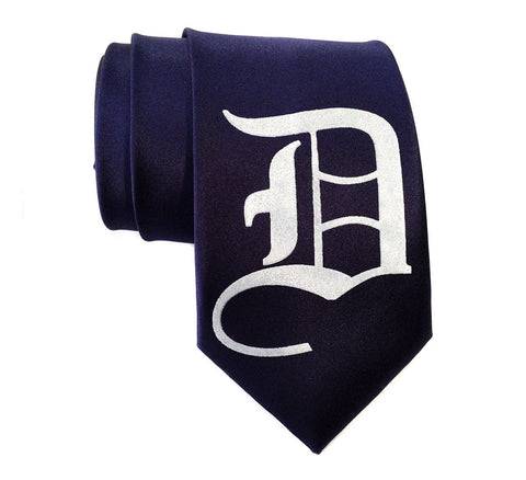 Old English D Necktie. Detroit D Tie