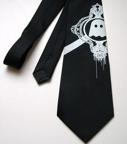 Ghostly International +Cyberoptix Embellished Logo Silk Necktie