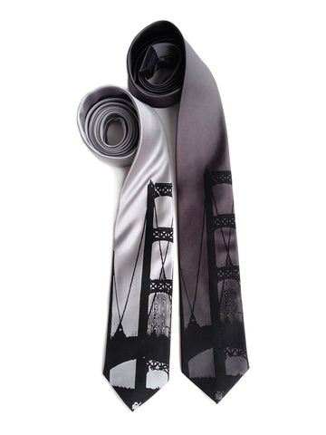 Mackinac Bridge Silk Necktie