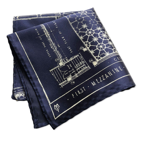 Blueprint Pocket Square, Capitol Theatre Detroit Opera House