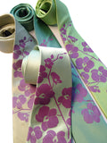Orchid Flower Silk Neckties, by Cyberoptix. Radiant orchid ink on celery, clover, chartreuse.