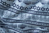 Light Blue Ugly Hanukkah Sweater Print Scarf, by Cyberoptix / Wethouse