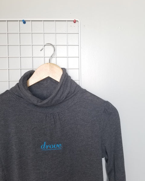 Upcycled Drove Grey Turtleneck Ladies M