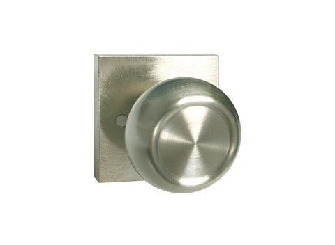 Satin Nickel Dummy Handle Round Knob Square Plate - Style 5765-6085-DC
