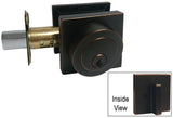 Dark Oil Rubbed Bronze Square Single Cylinder Deadbolt