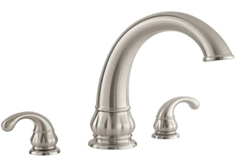 Brushed Nickel Price Pfister Treviso Roman Large High ARC Tub Faucet