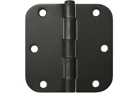 "Oil Rubbed Bronze 3 1/2"" Door Hinges 5/8"" Radius US10B"