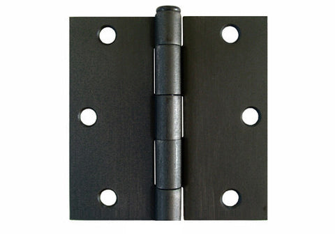 "Oil Rubbed Bronze 3 1/2"" Door Hinges Square Corner US10B"