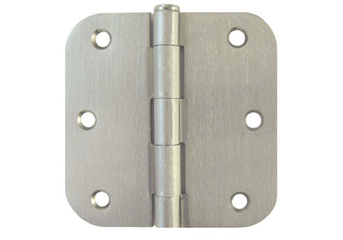 "Satin Nickel 3 1/2"" Door Hinges 5/8"" Radius US15"